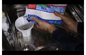 How to refill the salt container on a dishwasher
