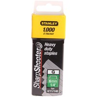 Stanley SharpShooter Heavy Duty Staples TRA7 - 1000 Pack