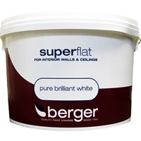 Berger  Superflat Emulsion Brilliant White Paint - 5 Litre
