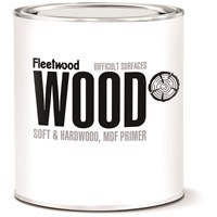 Fleetwood  Soft & Hardwood & MDF White Matt Primer - 1 Litre