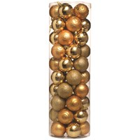 Festive  Gold Christmas Baubles - 50 Pack