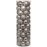 Festive  Silver Christmas Baubles - 50 Pack