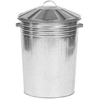 Galvanised Bin with Galvanised Lid - 24in