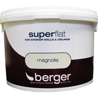 Berger  Superflat Emulsion Magnolia Paint - 10 Litre