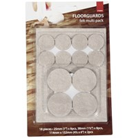 De Vielle  Floor Guard Felt Multipack - 18 Pack